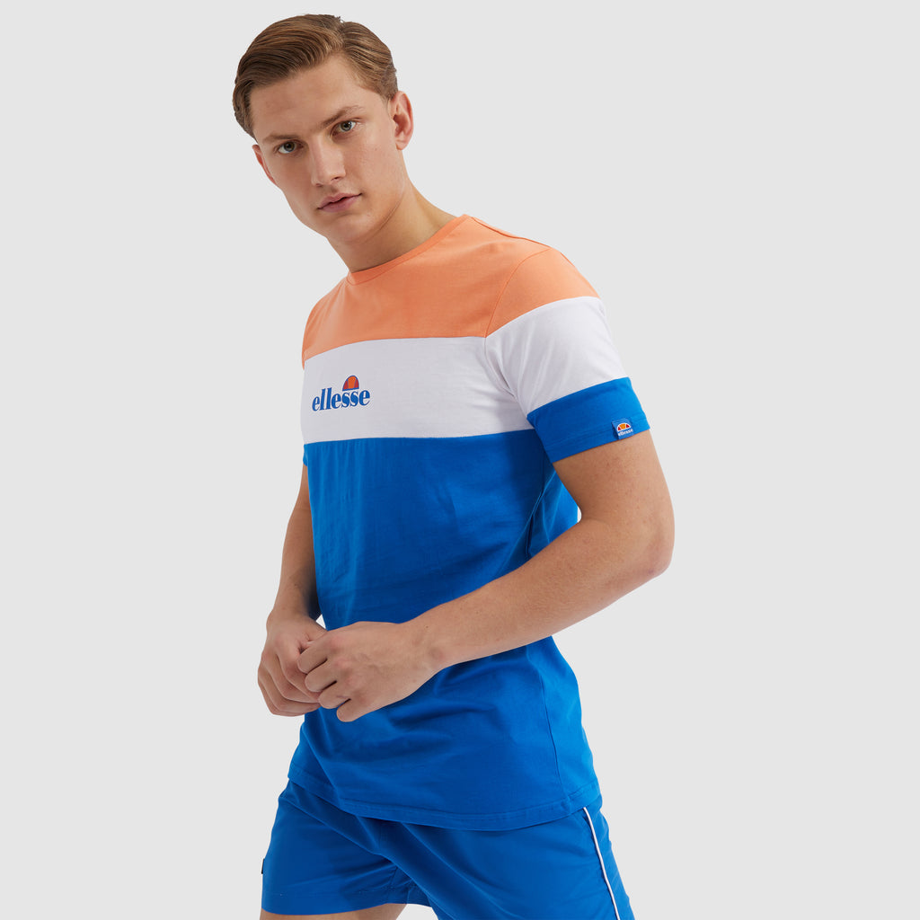 Ministry Blue Colour Block short sleeve Tee by Ellesse