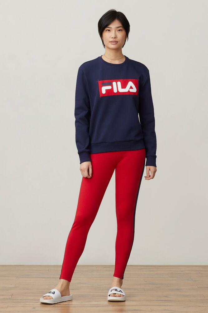 Evelyn navy red & white women's sweatshirt by Fila
