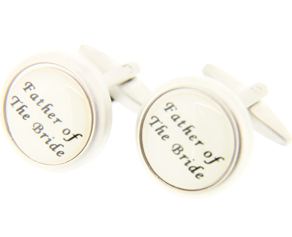 Father of the Bride Silver Colour Cufflinks
