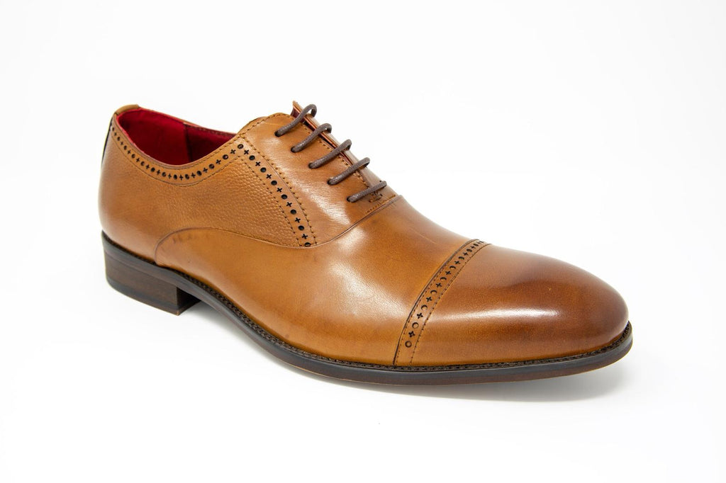 Ford Brown Leather Shoe by 6th Sense