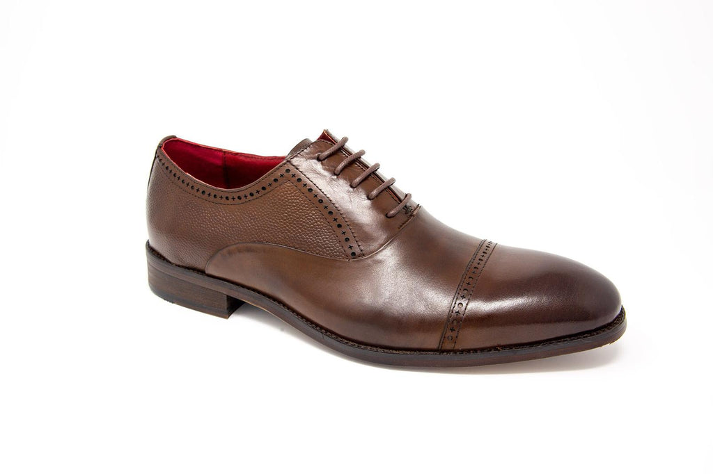 Ford Coffe Leather Shoe by 6th Sense