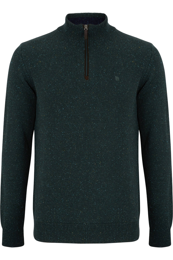 Nope Half Zip Moss Sweater