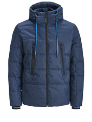 Fred Puffer Hooded China Blue Jacket