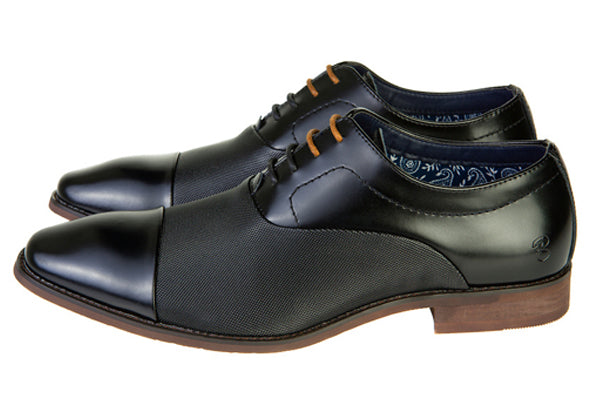 Benetti Gavin Black Leather Shoe