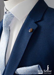 Gerard 3 Piece Blue Suit by 6th Sense