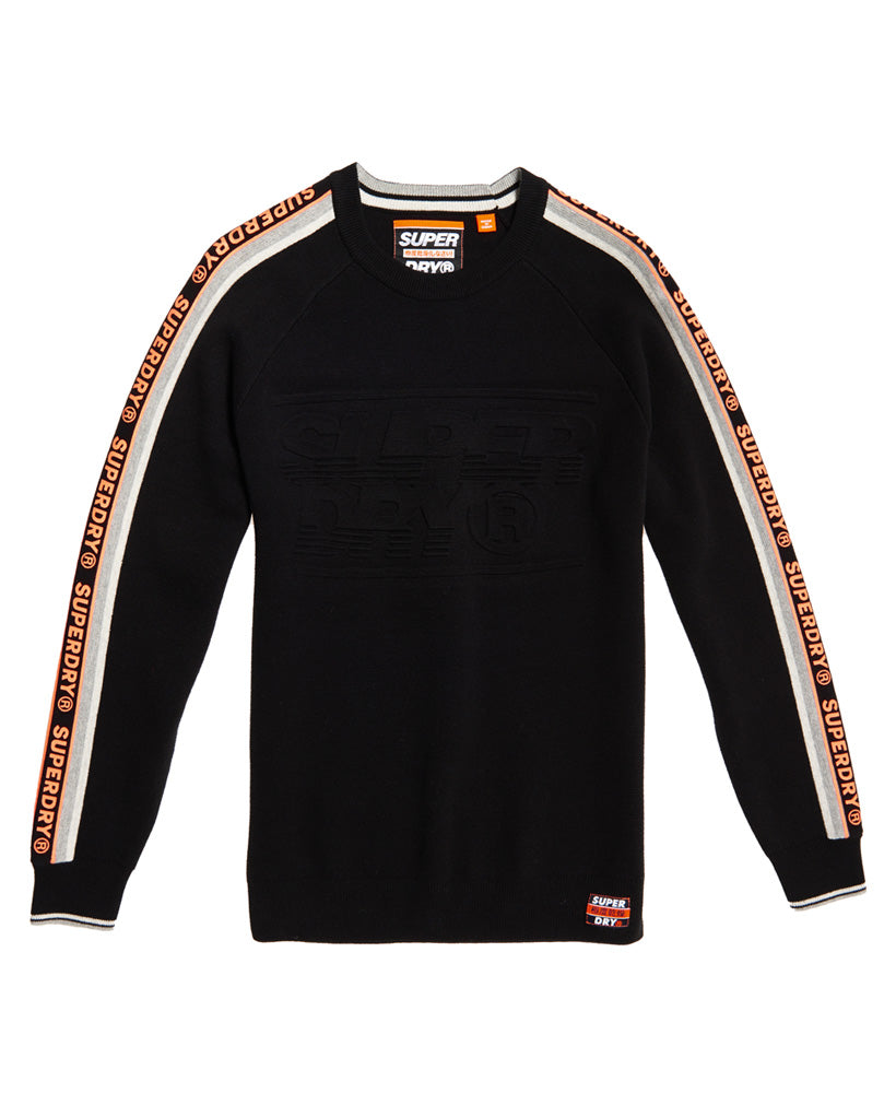 Superdry Grade Embossed Crew Black