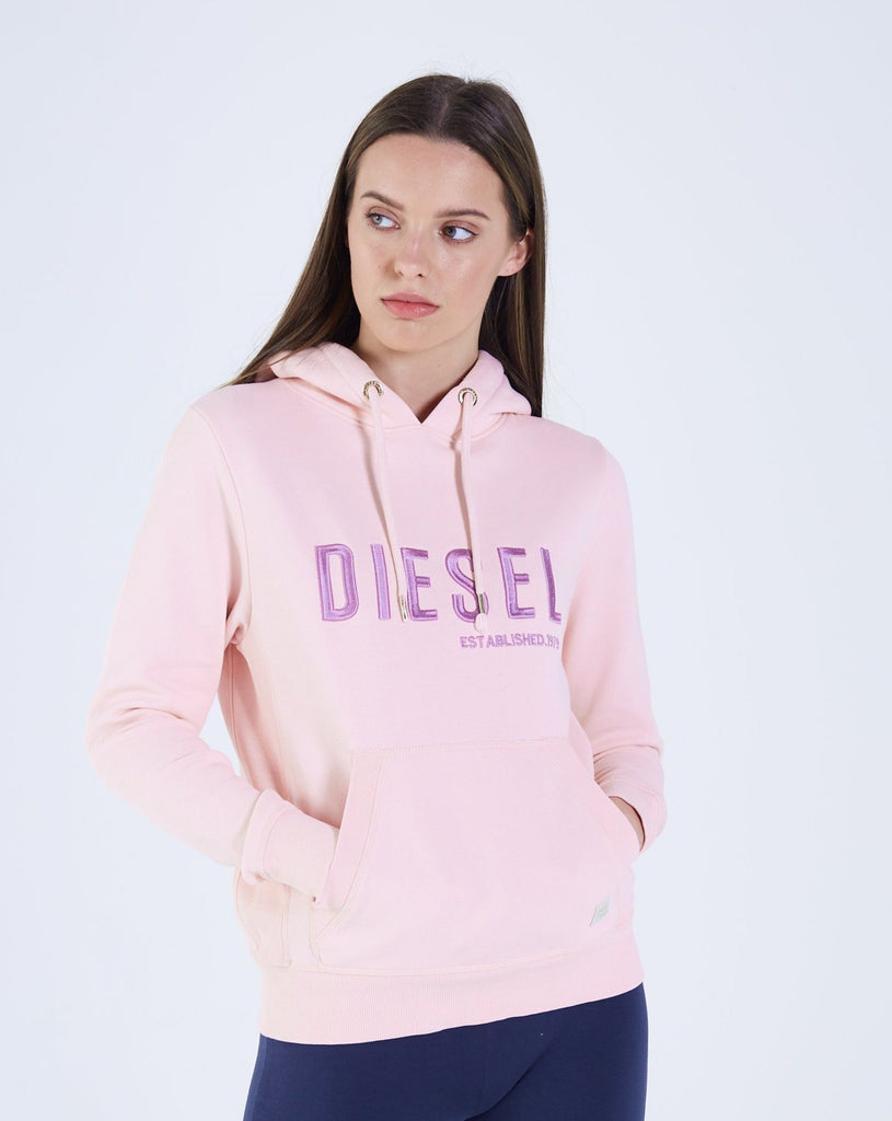 Women's pink over the head hoodie.