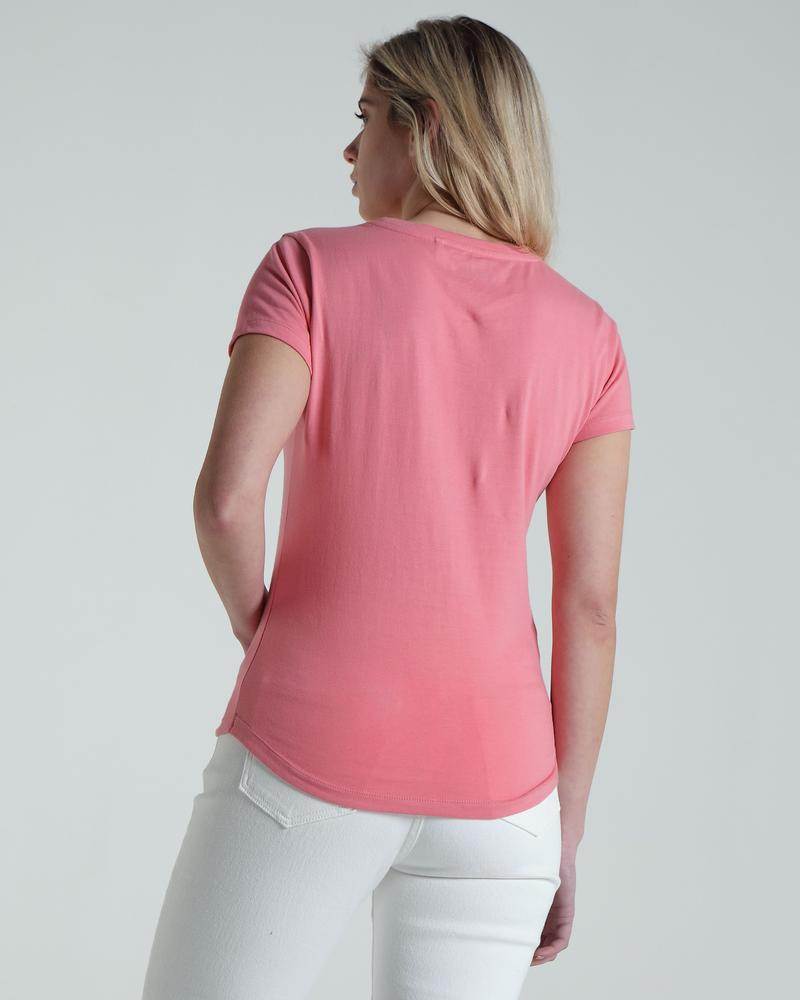 Cloda Basic Tee New Rose_back