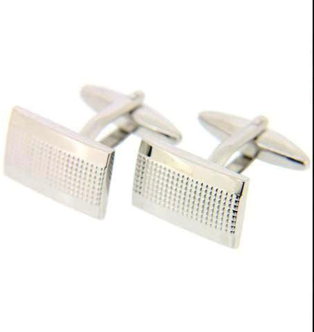 Soprano Rectangular Silver Dots Cufflinks