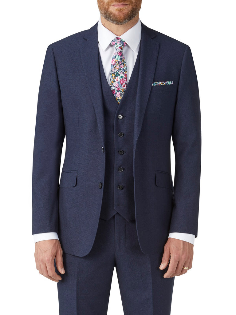 Harcourt Navy Slim Fit Jacket by Scopes