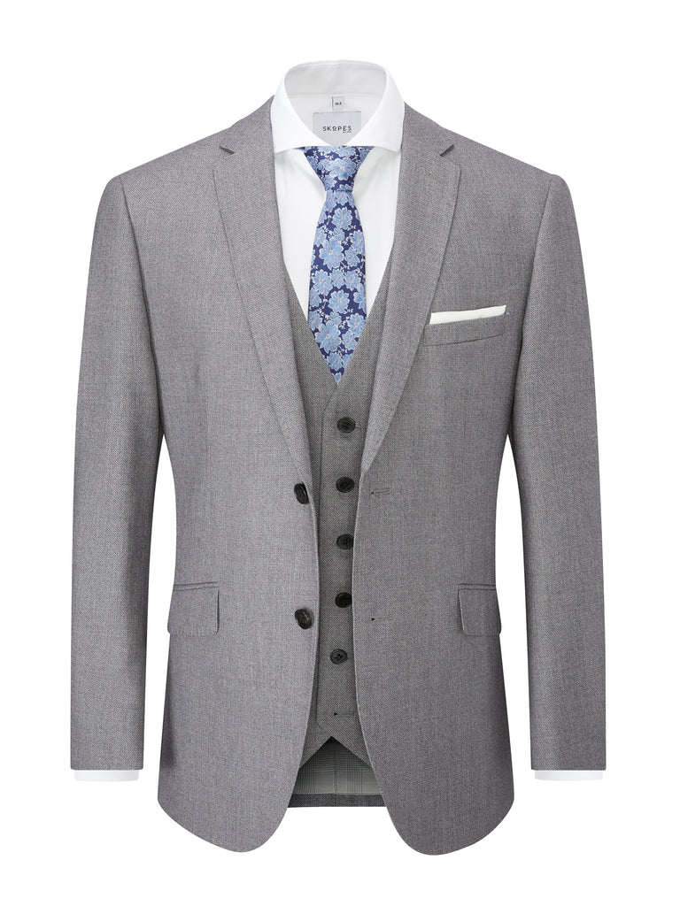 Harcourt Silver Slim Fit Jacket by Scopes