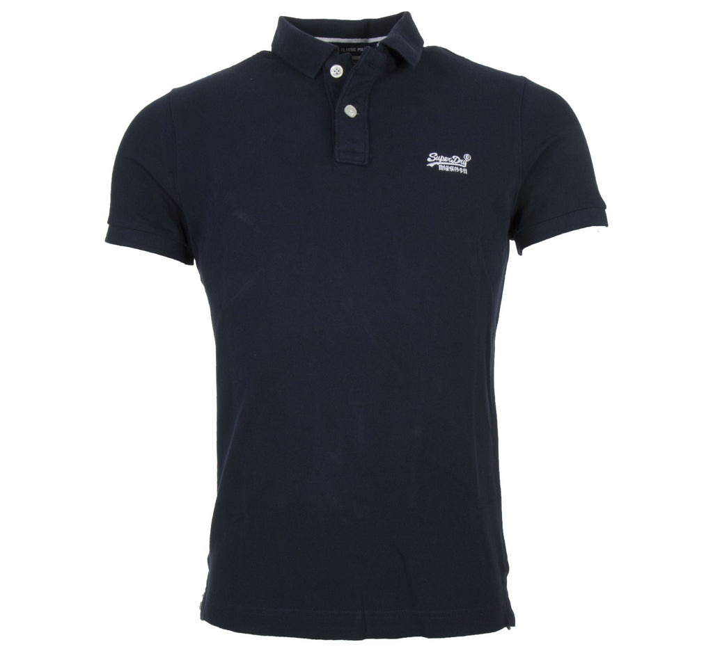 Superdry Classic Pique Short Sleeve Eclipse Navy Polo