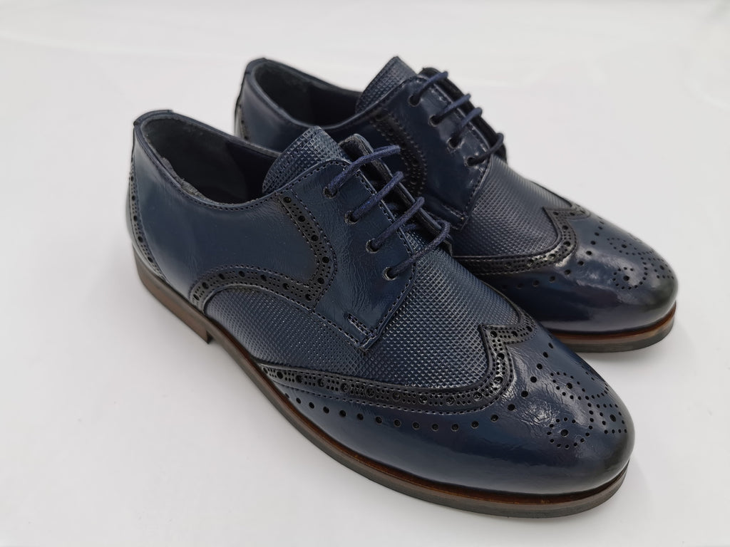 George Boy Navy Brogue Shoe