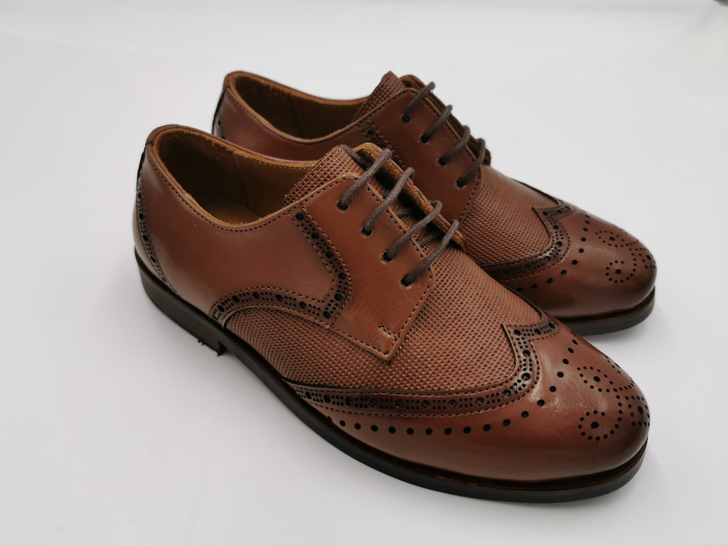 George Boy Cognac Brogue Shoe