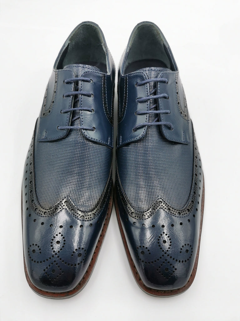 George Navy Brogue Shoe