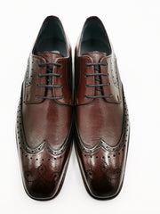 George Wine Brogue Shoe by Benetti