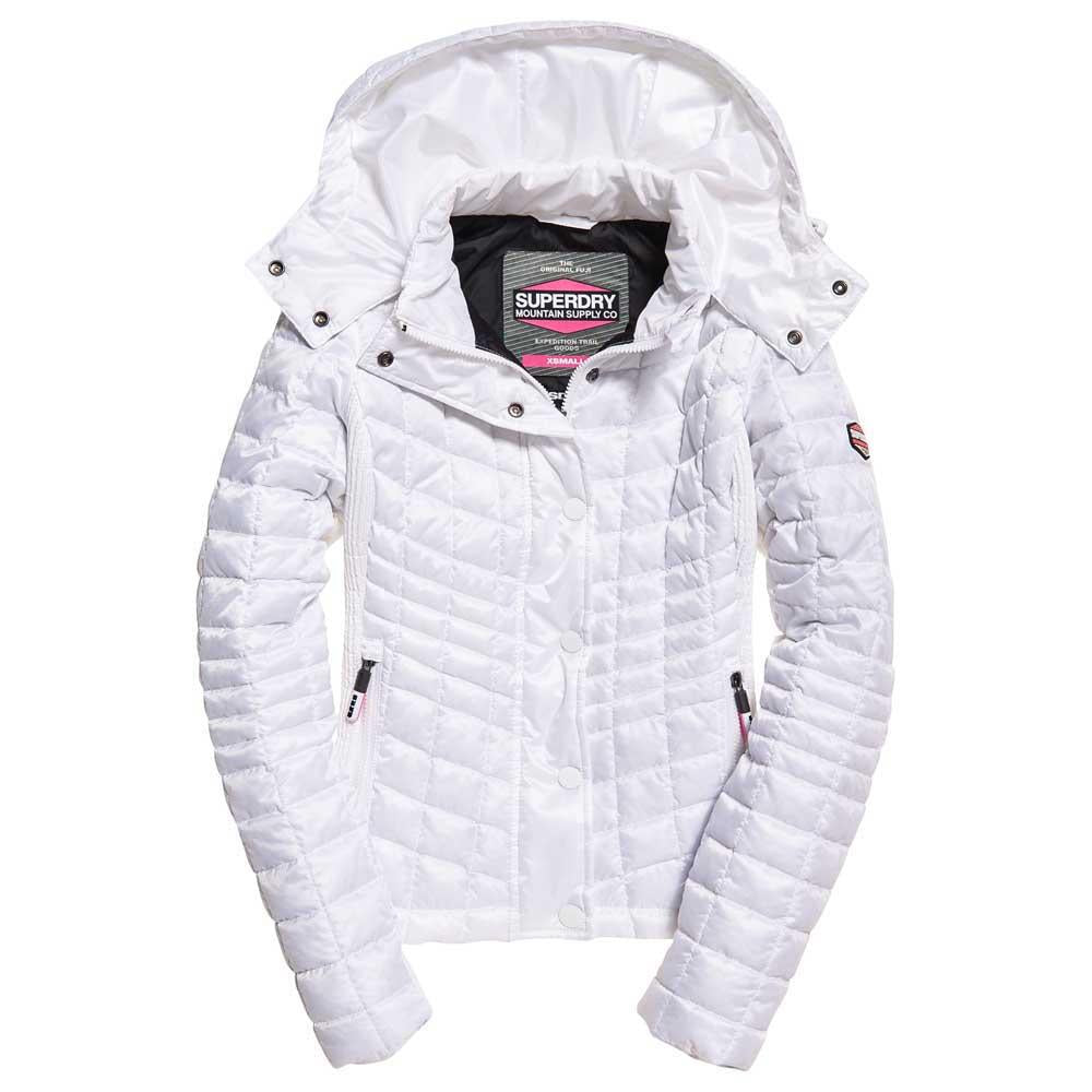 G50009LR Superdry Nova Box Quilt Womens White Fuji Jacket