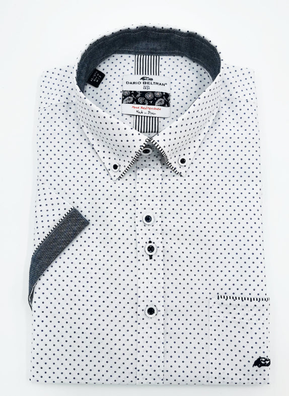 Illueca Short Sleeve White Dot Shirt