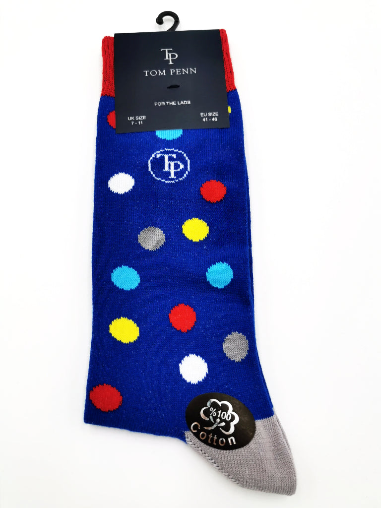 Tom Penn Royal Multi Colour Sock