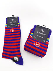Tom Penn Purple & Red Stripe Men's Sock
