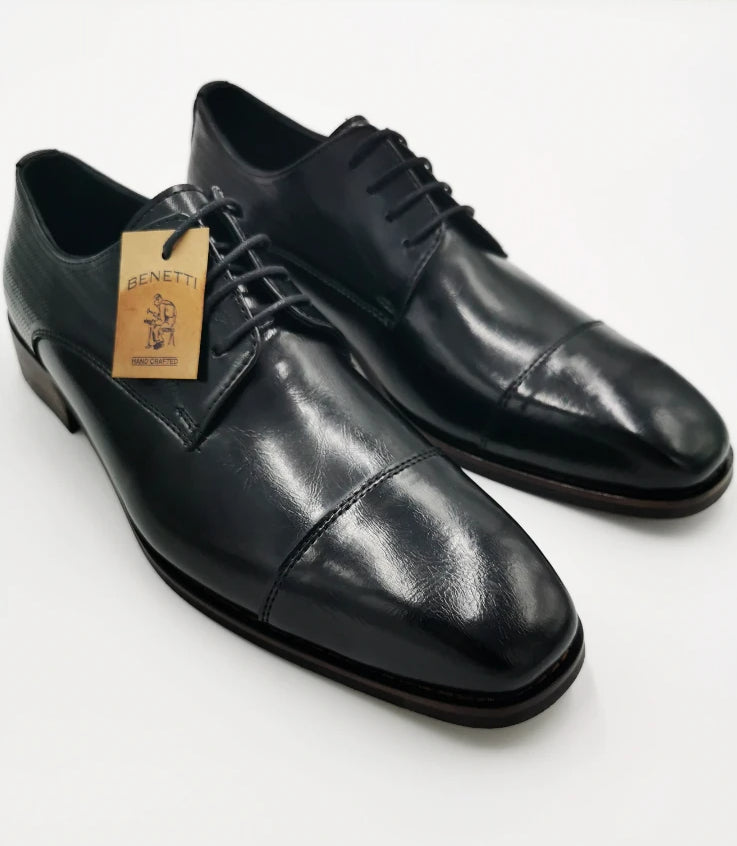 Men's Henry Black Lace Shoe by Benetti