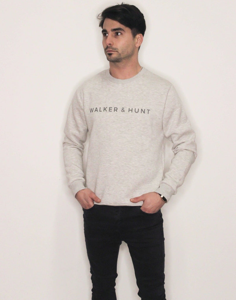Snow Grey Crew Sweat