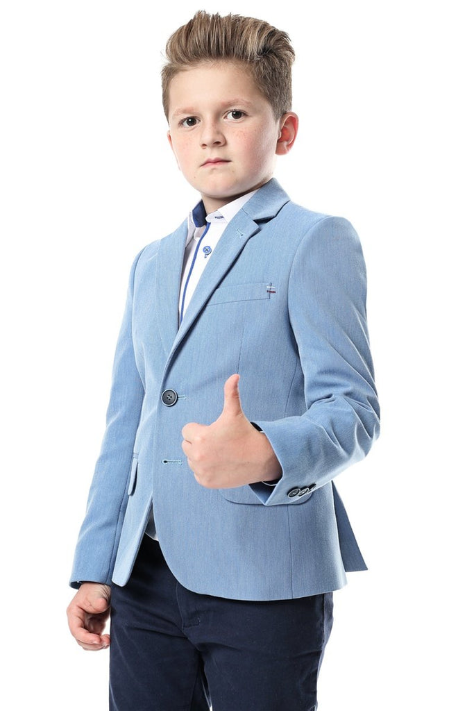 Adam Blue Kids Blazer by Standar