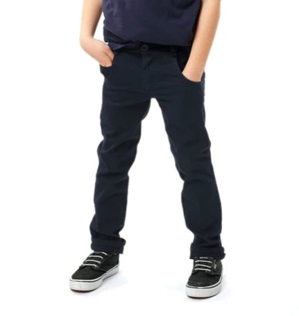 Navy Kids Spodnie tapered fit Chino