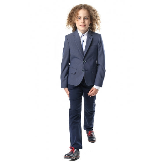 Kris Blue Dot Kids Blazer by Standar