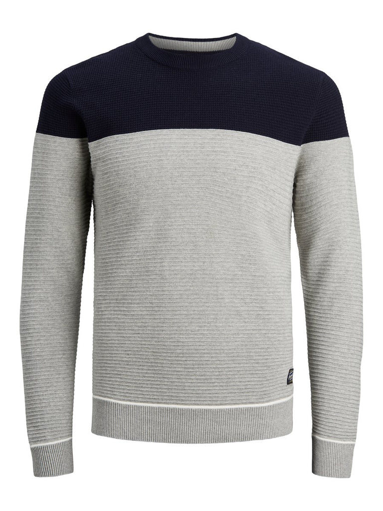 Break Crew Neck  Light Grey Men's Jumper