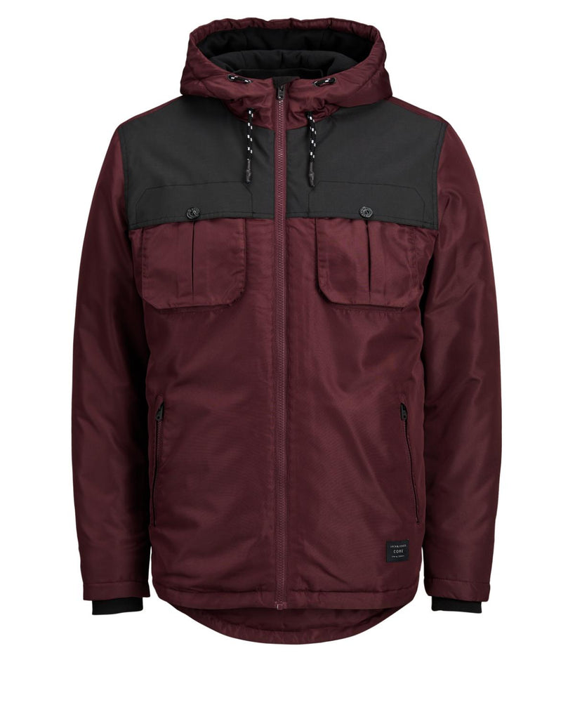 JCONew Flicker Hooded Port Colour Jacket by Jack & Jones