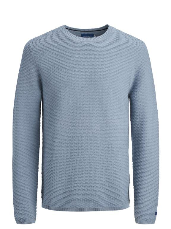 Jon Crew Neck Blue Long Sleeve Knit.