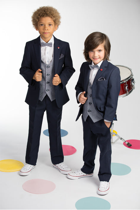 Marvin Boys Bow & Pocket Square Set