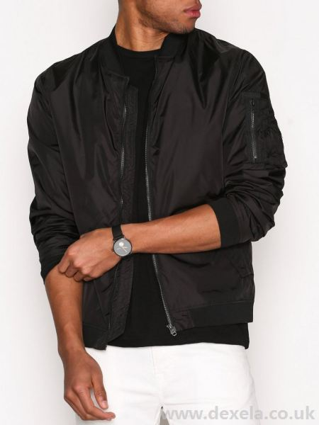 Jack Jones Core JcoJustin Black Bomber