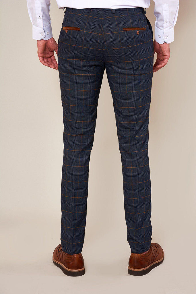 Jenson Marine Check Skinny Trousers By Marc Darcy