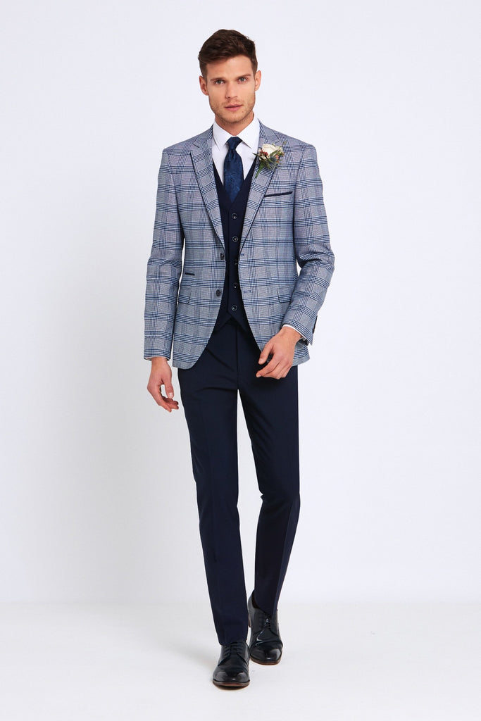 Julius Tapered Check Pattern Jacket