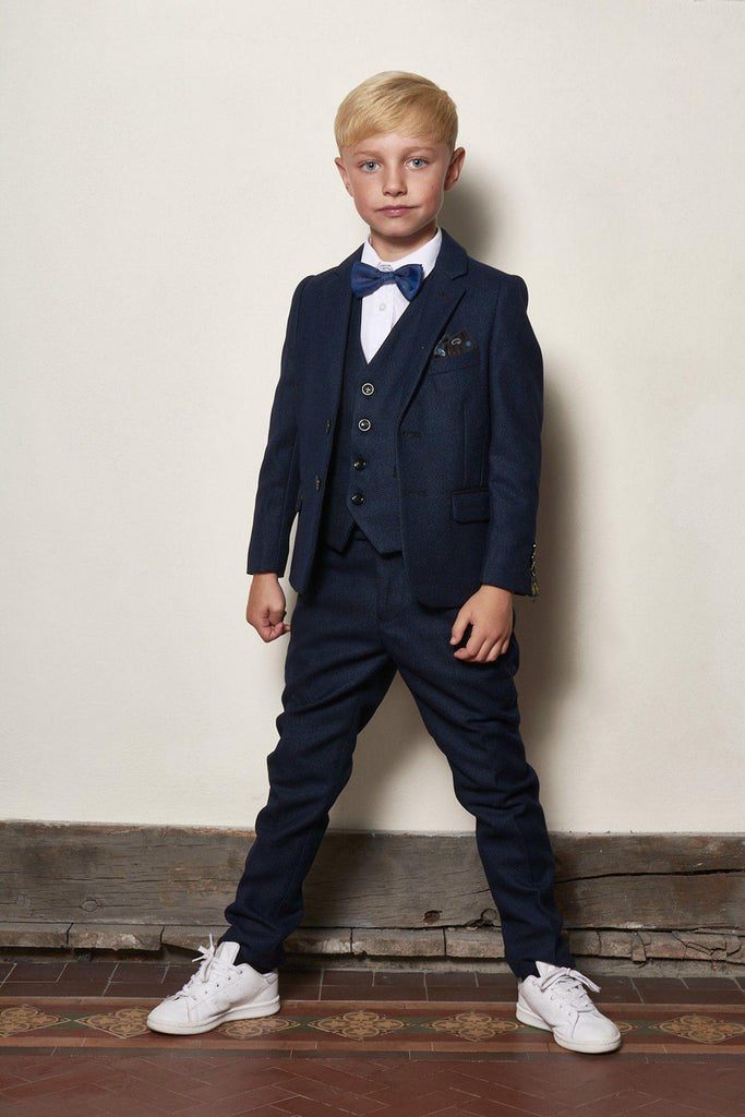 Callum Boy Three Piece Navy Suit by Marc Darcy