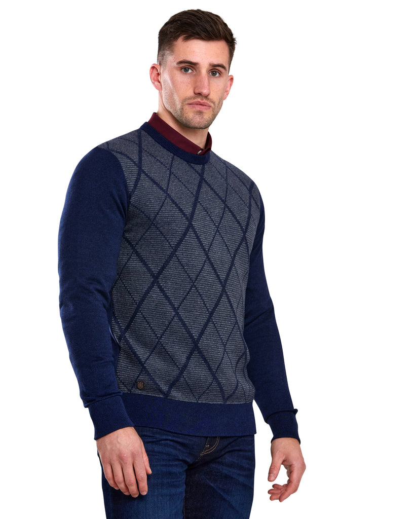 Louis Round Neck Jumper iris