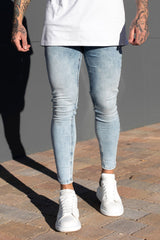 Light Blue Super Spray On Jeans. SIN780