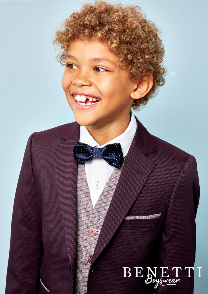 Louis Wine Boy 3 Pc Suit by Benetti