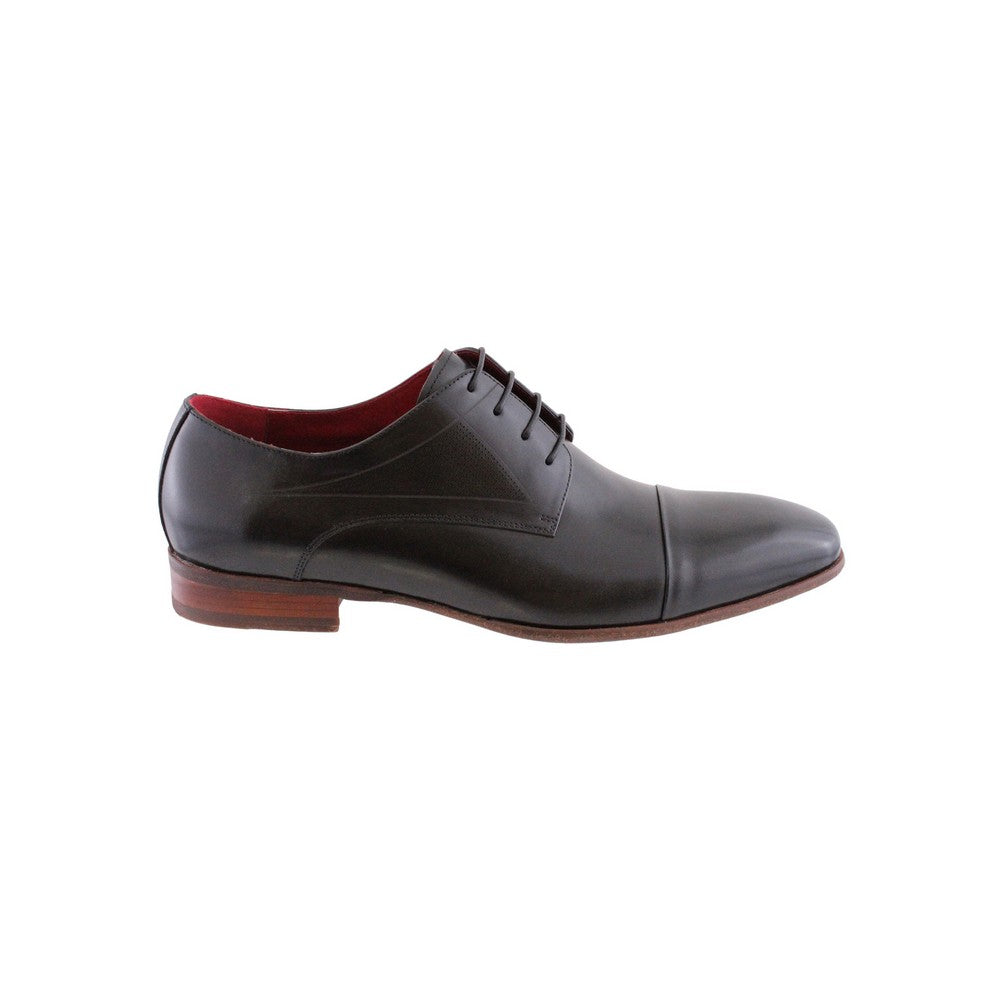 Black Morgan Men's Leather Shoe - side