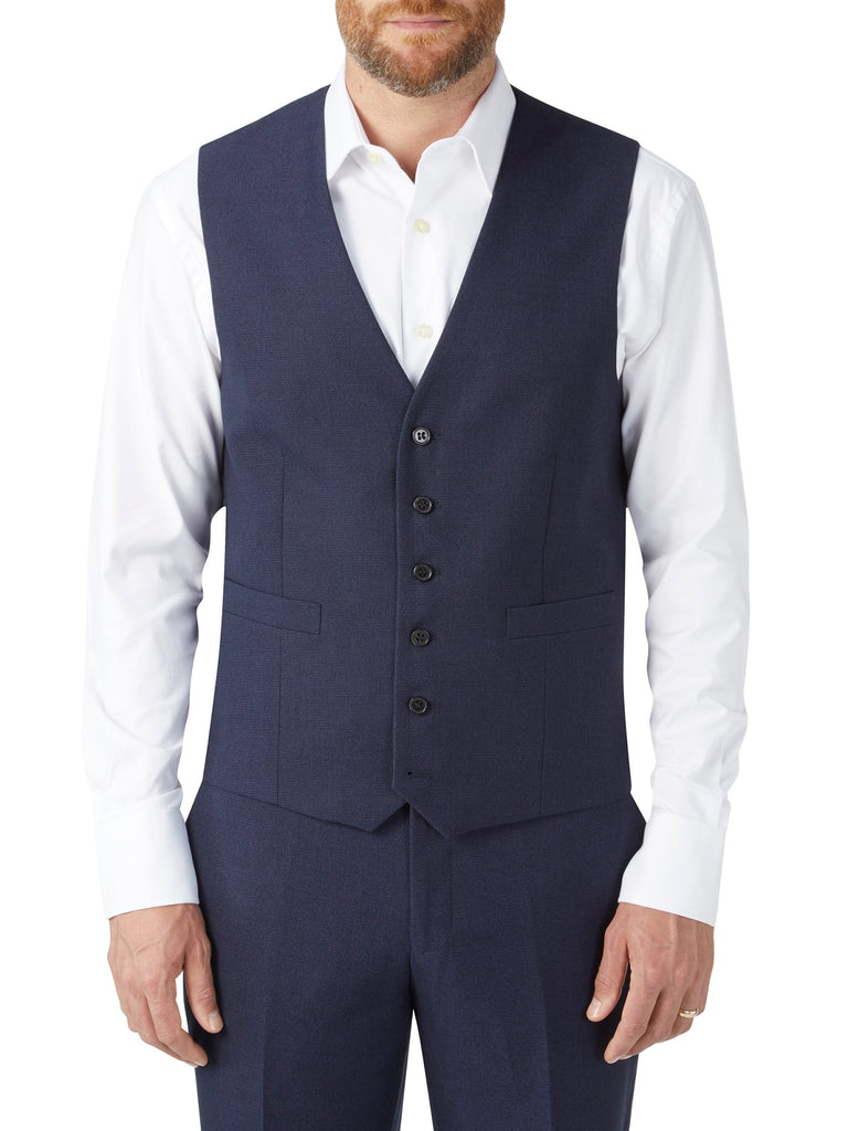 Harcourt Navy Tapered Waistcoat by Scopes