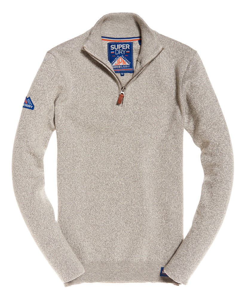 Metropolitan Northside Oyster Grey Henley by Superdry