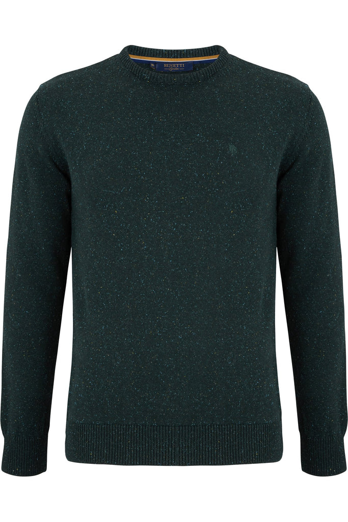 Nope Crew Neck Moss Green Jumper