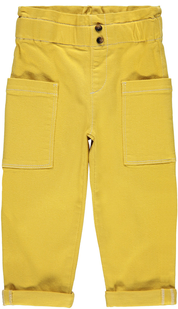 Rose Twiatara Mustard Girls Pant