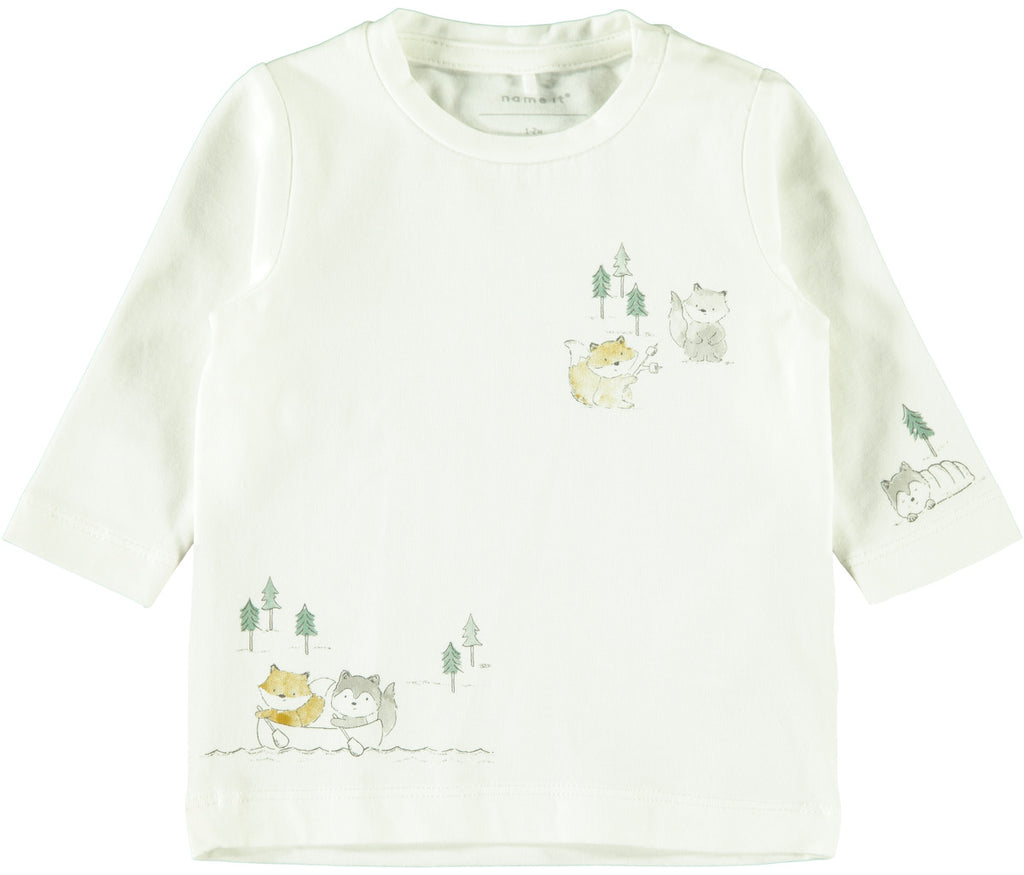 Leson Long Sleeve Newborn White Top