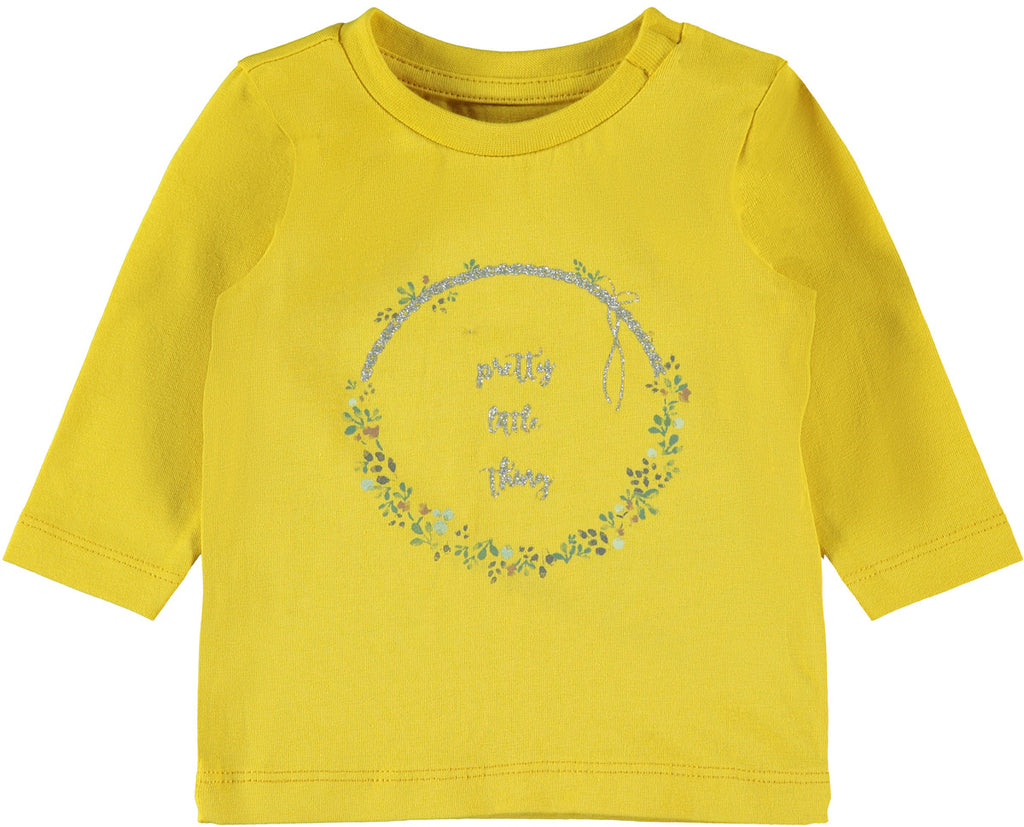 Liw long sleeve newborn girl mustard top