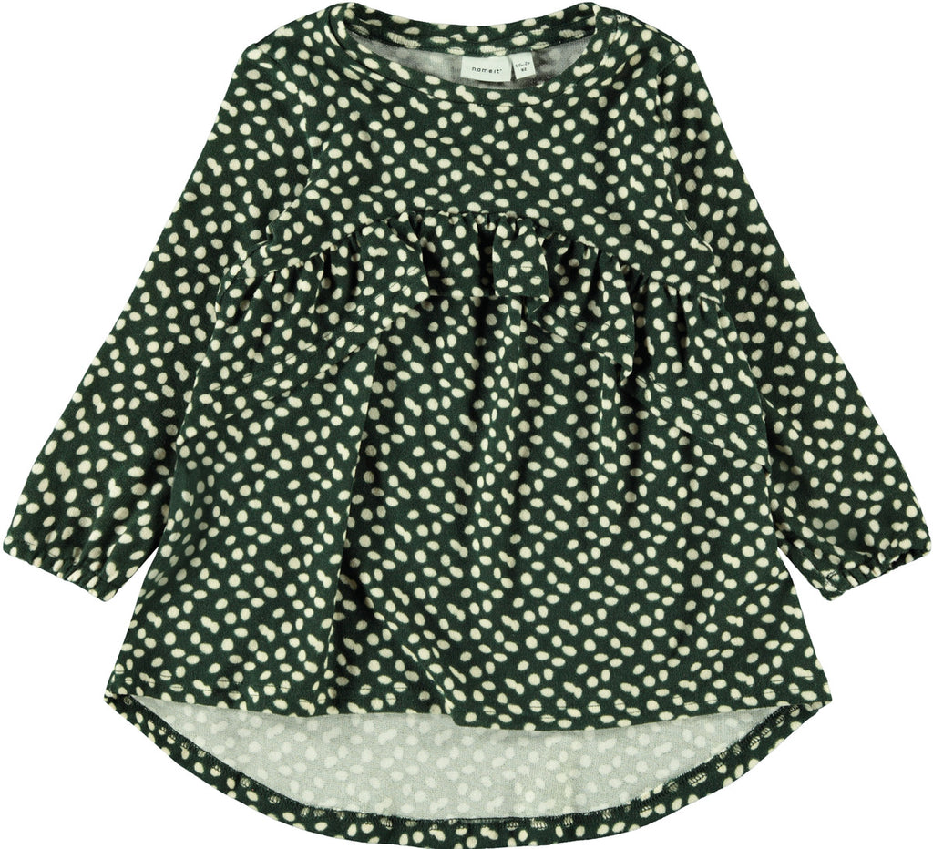 Latinna Knit Kid Girl Green Dress