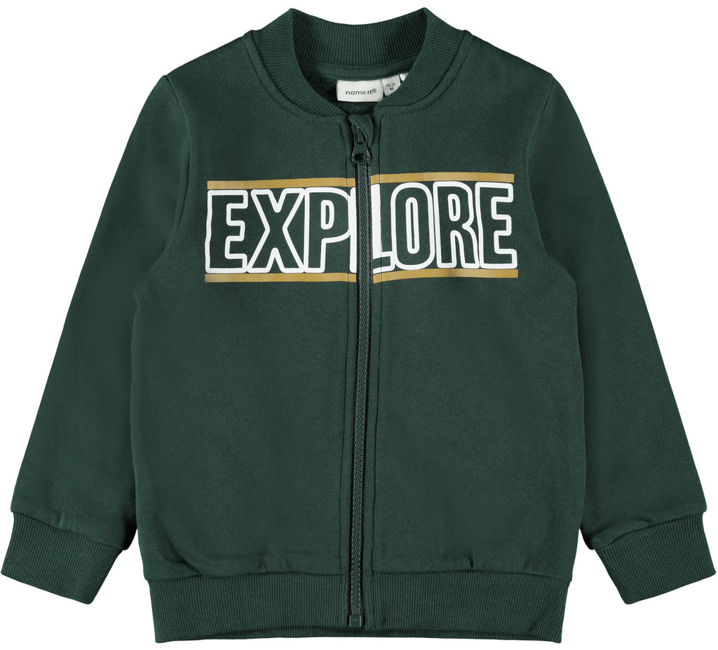Lanco Sweat Cardigan green