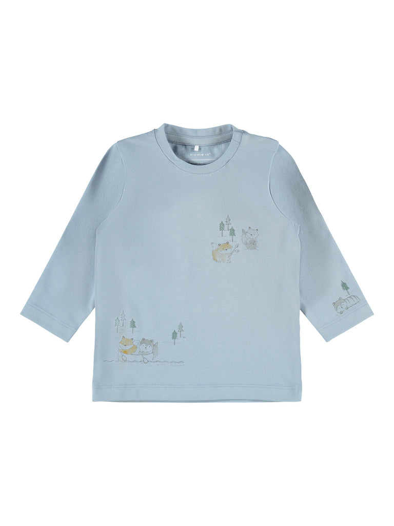 Leson Long Sleeve Newborn Blue Top